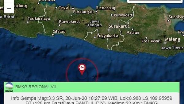 Gempa M 3,4 Terjadi di Bantul