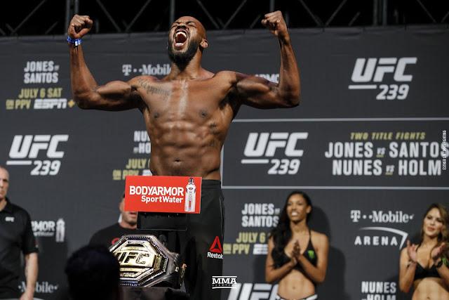 Jon Jones UFC 247 weigh In
