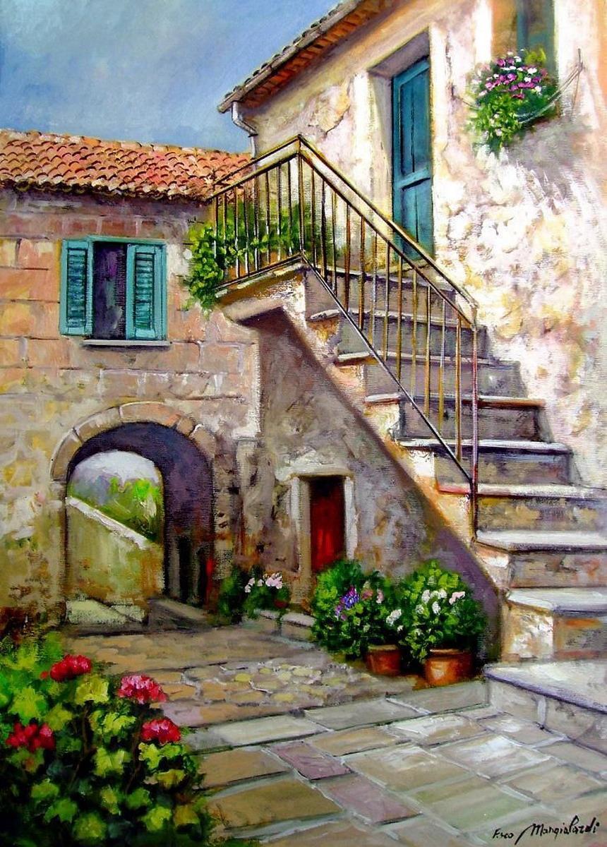 Cuadros modernos pinturas y dibujos cuadros de balcones - Cuadros en casa ...