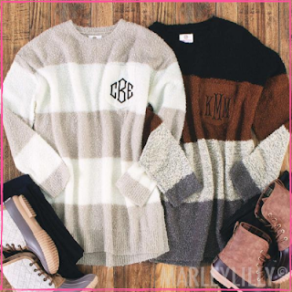 Monogrammed Boyfriend Sweater from Marleylilly.com