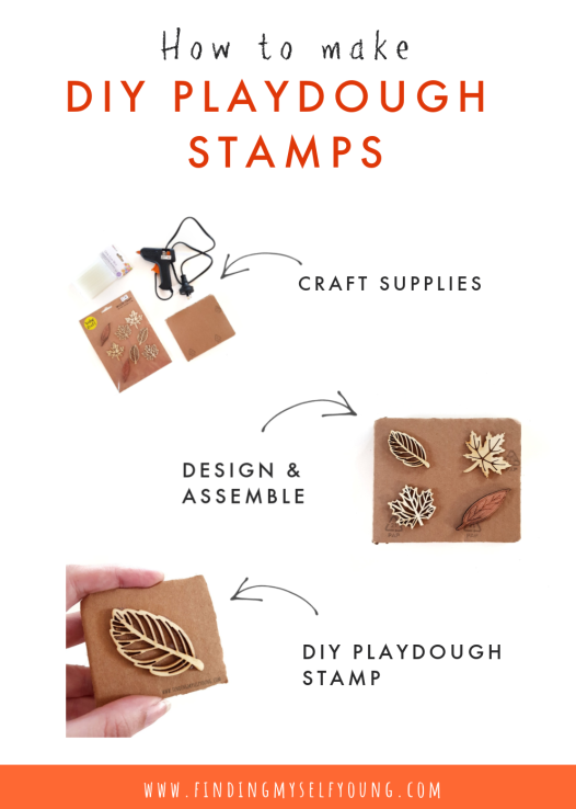 how to make diy playdough stamps