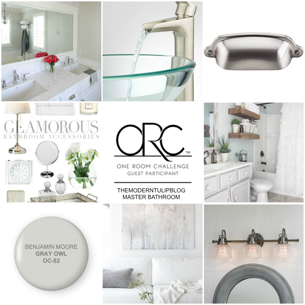 One Room Challenge Master Bathroom Before Pictures Moodboard The Modern Tulip