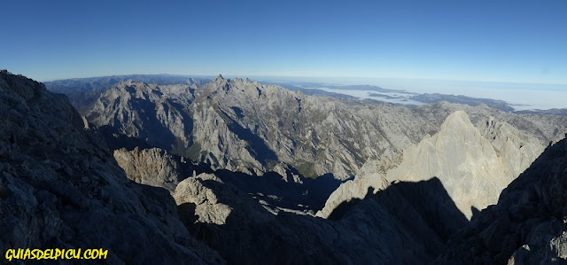 Fernando Calvo Guia de alta montaña de Picos de Europa, UIAGM, techos de españa , Torrecerredo Asturias escalar el Naranjo con Guía