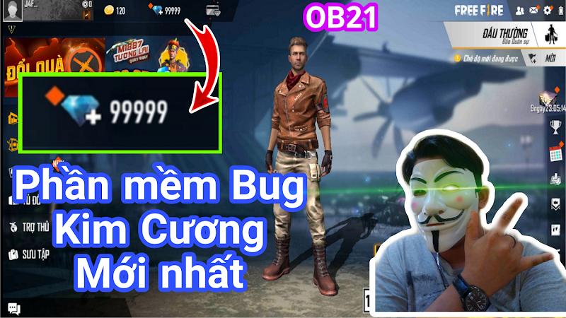 Bug 99999 Diaminds Free Fire OB21