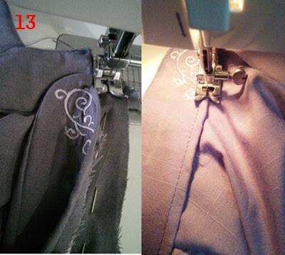 cara membuat kerah tegak collar stand untuk baju koko