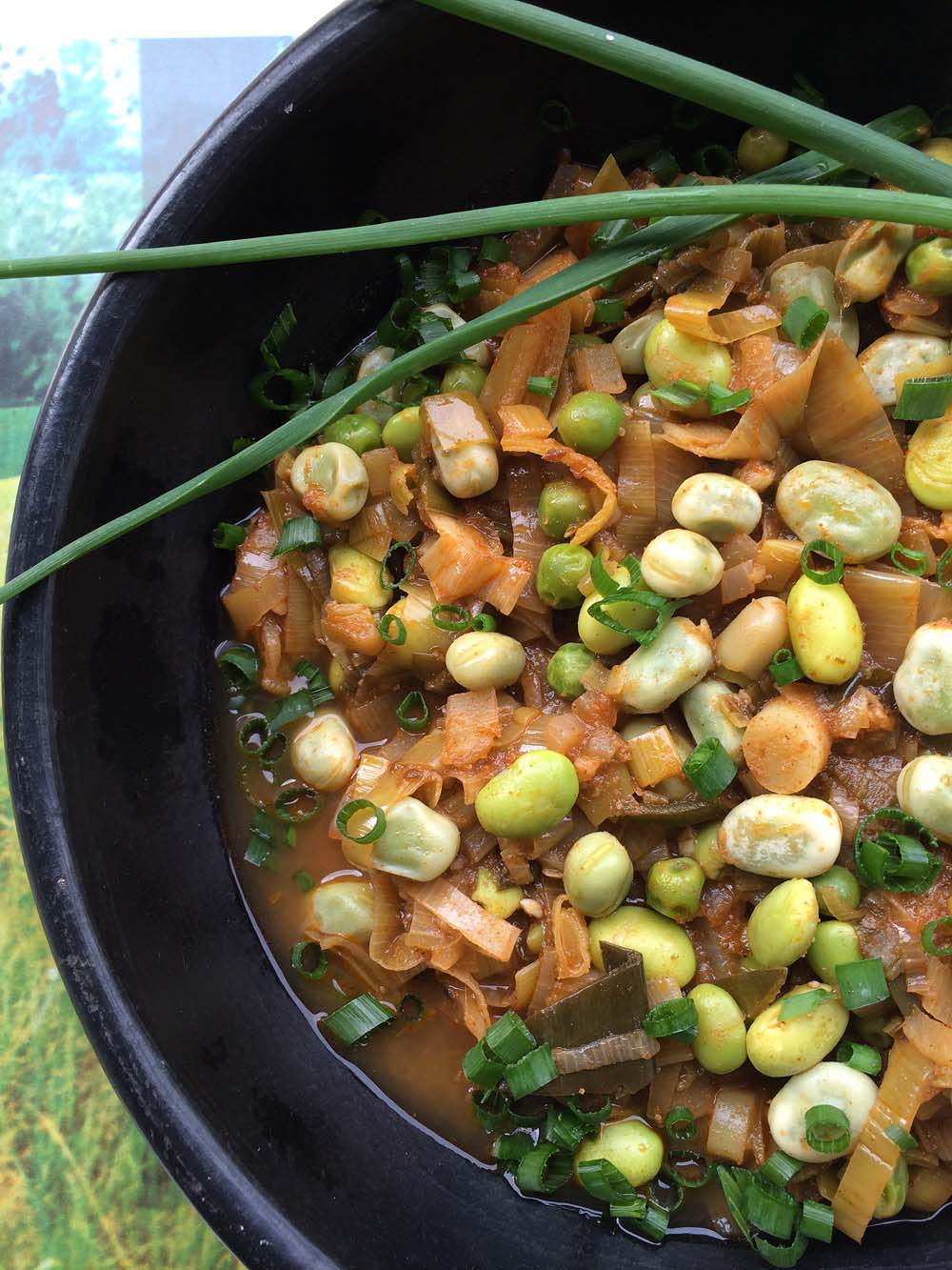 ... Seasonal Veg Table: Green Chili with Welsh Leeks and Edamame Beans