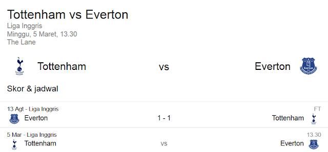 Prediksi Skor Tottenham Hotspur vs Everton   Polisibola.com