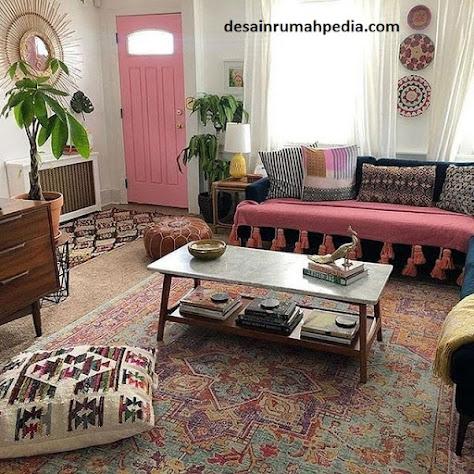 6 inspirasi ruang tamu dan ruang keluarga tanpa sekat