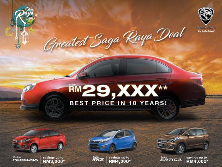 Harga Proton Saga Bawah RM30K