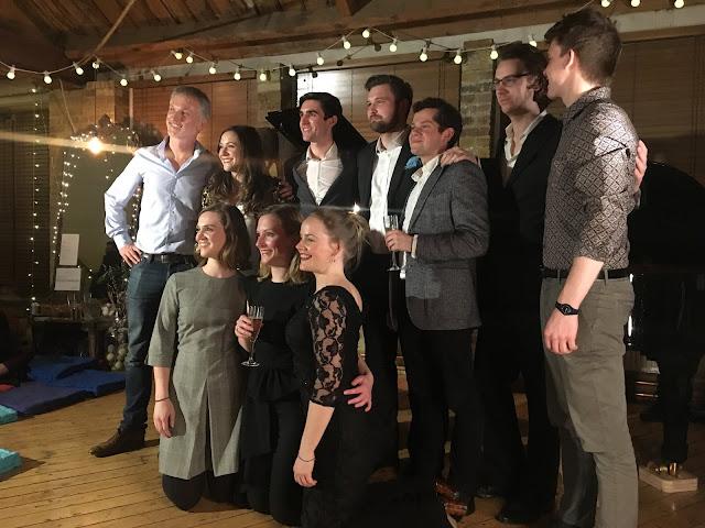 Natalie Burch, Felicity Turner, James Way, James Newby, Eirian Lewis, Lizzie Holmes, Caroline Daggett, David Fearn, Paul McKenzie at Shoreditch Treehouse