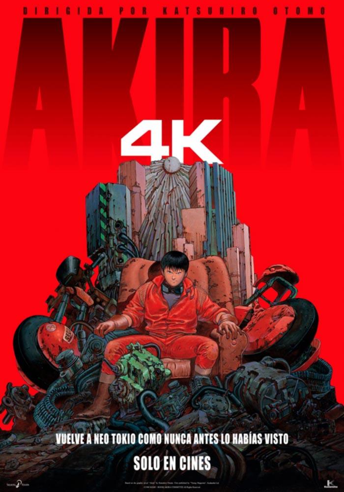 Akira anime film 4K - Katsuhiro Otomo - Selecta Visión - poster