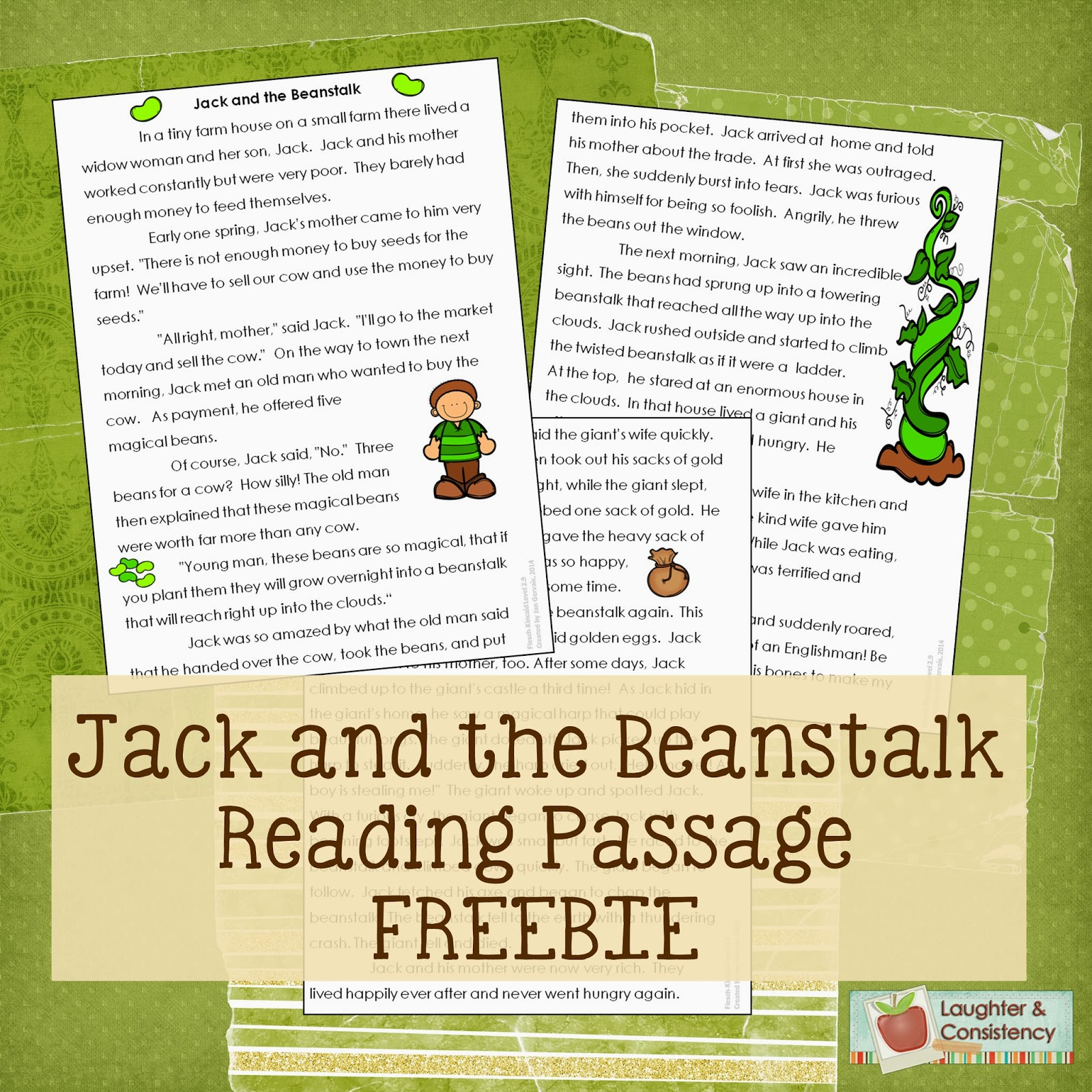 Laughter And Consistency Jack And The Beanstalk Freebie
