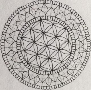 Mandala flower design for beginner part 3