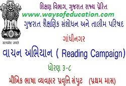 STD 3 TO 8 READING CAMPAIGN TEACHER GUIDELINE