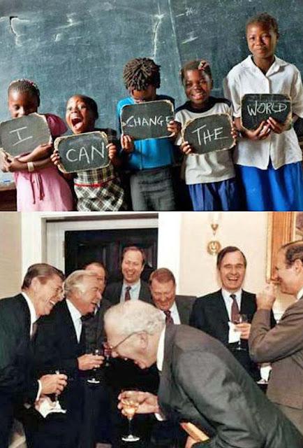 Politiker lachen über leidende Menschen - Lustige böse Bilder