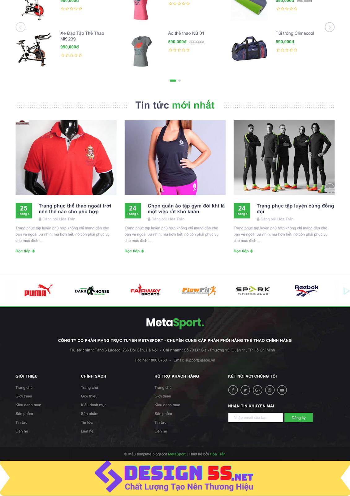 Theme blogspot bán hàng dụng cụ thể thao VSM24 - Ảnh 2