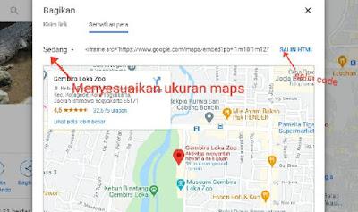 Cara menambahkan peta pada blog
