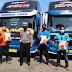 Satlantas Polres Purbalingga Salurkan Bantuan Bagi Sopir Bus Terdampak PPKM Darurat
