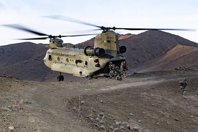 US Army Boeing Chinook helicopter