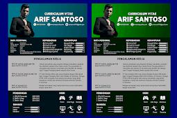 Contoh CV Lamaran Kerja Kreatif dan Baik - Design #34