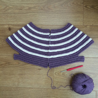 Crochet cardigan in progress
