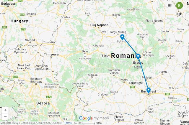 Romania Travel Route