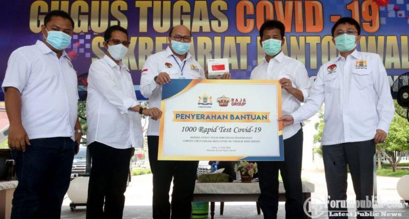 """Kadin Batam Berikan Bantuan 1.000 unit RDT"" Pemko Siapkan Tim Agar Buka Pelayaran Internasional"