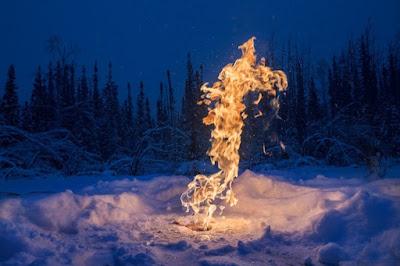 Permadrost nube de metano a la que se ha pegado fuego