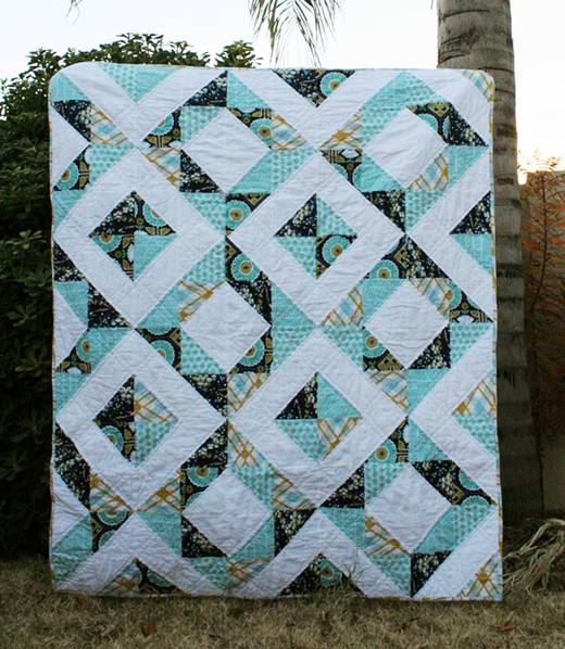 Diamond Treasures Quilt Free Tutorial designed By Megan Jimenez of Quilt Story