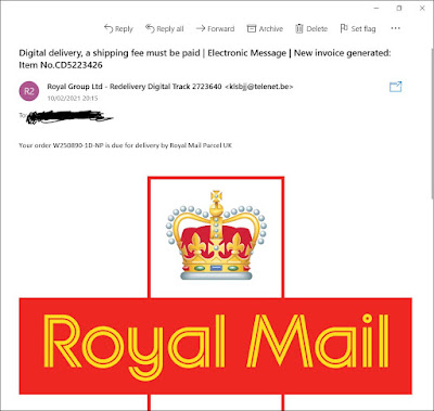 Fake Royal Mail Email