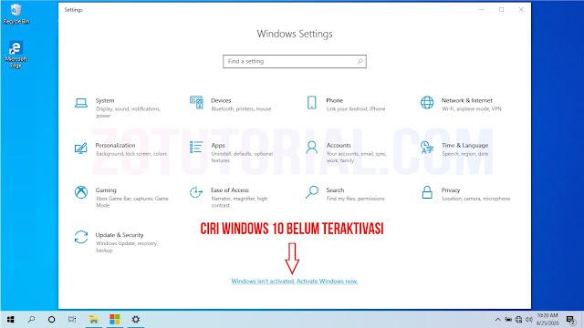 2 Cara Aktivasi Windows 10 Permanen Terbaru 100% Work