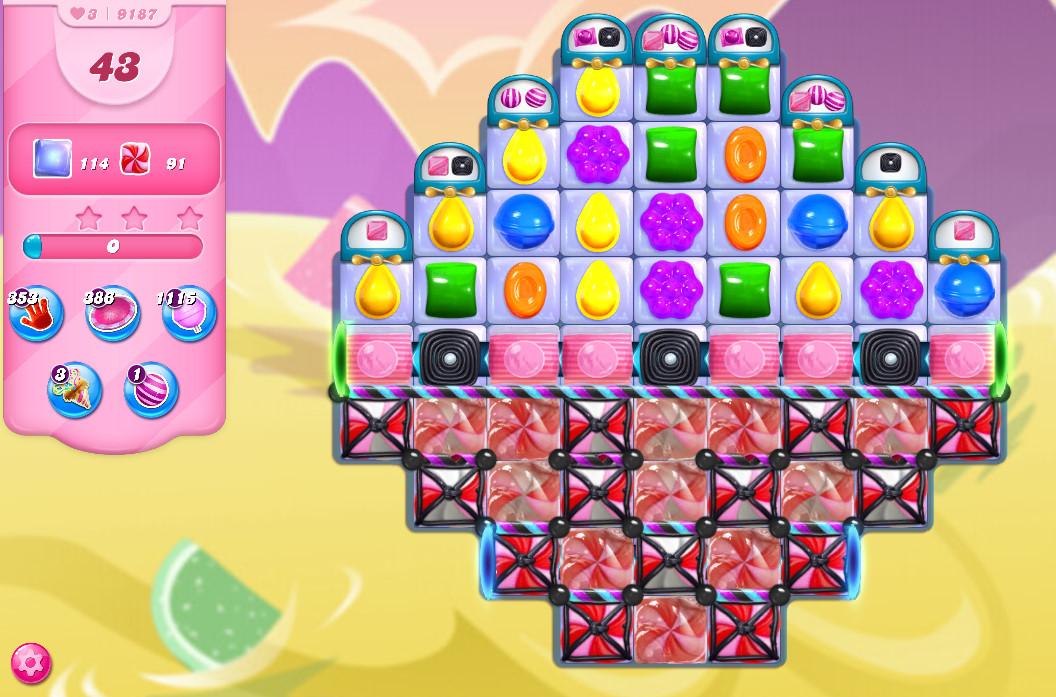 Candy Crush Saga level 9187