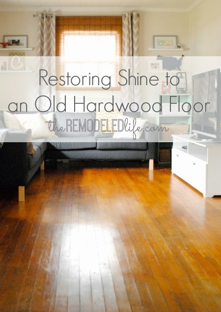 how to add shine to hardwood floors
