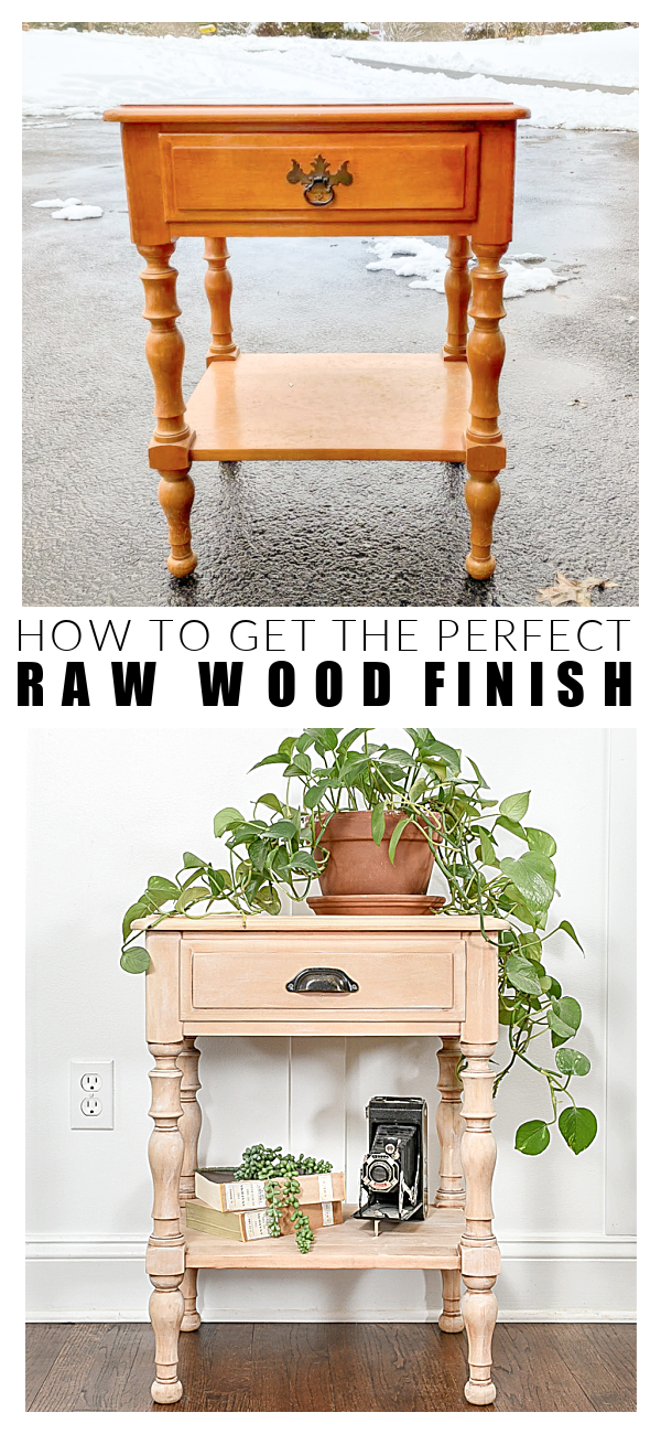How to get the perfect raw wood finish