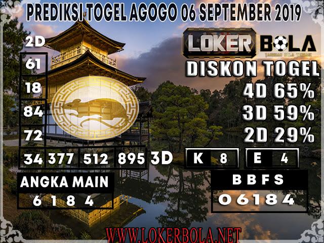 PREDIKSI TOGEL AGOGO LOKERBOLA 06 SEPTEMBER 2019