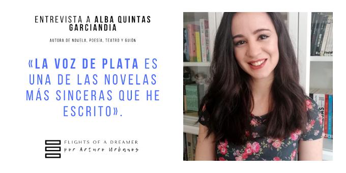 """Entrevista a Alba Quintas Garciandia: """"La voz de plata es una de las novelas más sinceras que he escrito"""""""