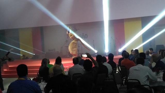 Personagem de canguru que produzimos para show personalizado para a convenção de vendas da empresa Ajinomoto em Foz de Iguaçu