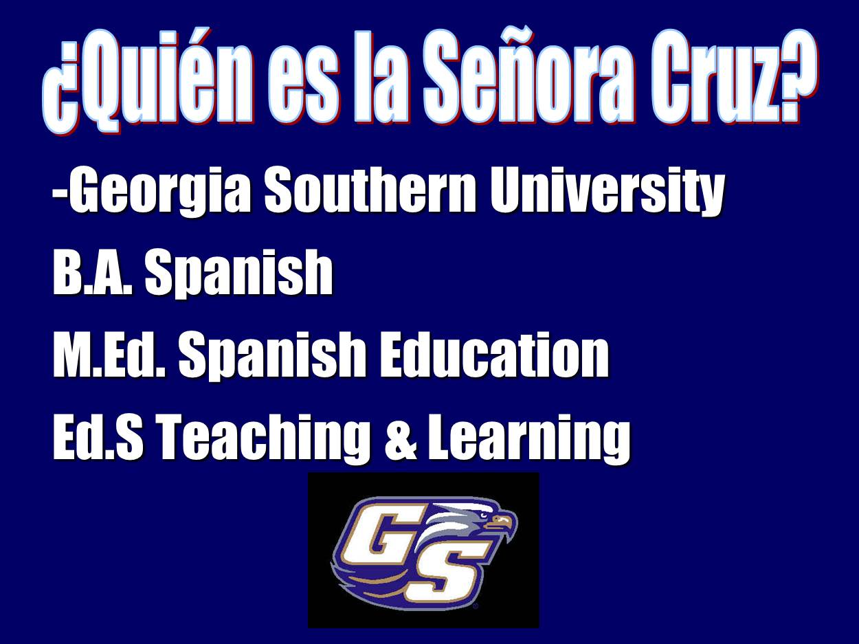 Señora Cruz: First Days of Spanish Class Part 2: Rules and