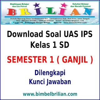 Download Soal UAS IPS Kelas 1 SD Semester 1 ( Ganjil ) dan Kunci Jawaban