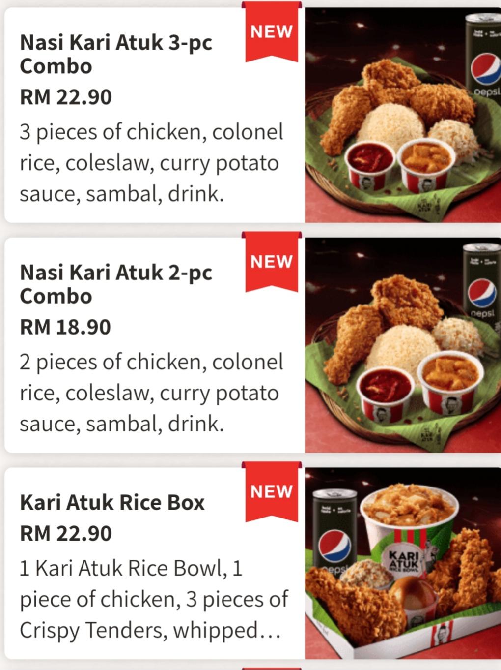 Nasi Kari Atuk KFC