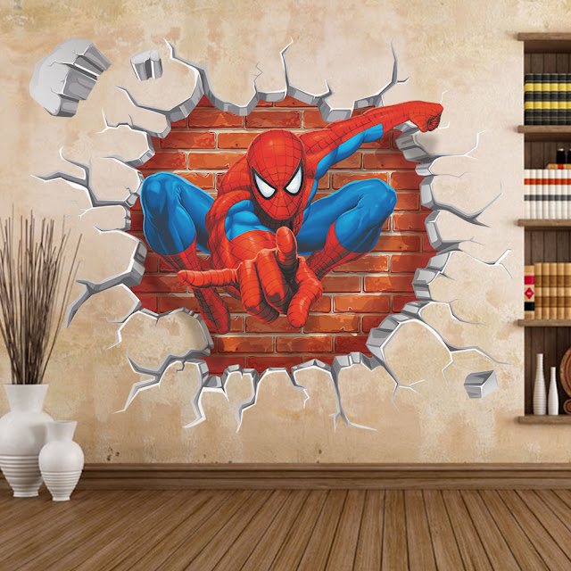 3d wall art stickers in kids room