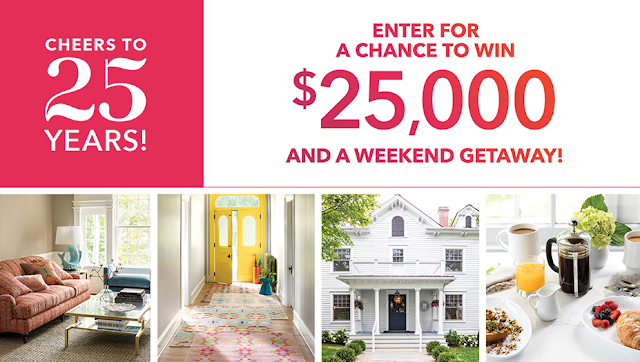 AnnieSelke.com is celebrating their 25th Annie-Versary by offering you a chance to enter once to win a $25,000 shopping spree along with a weekend getaway!