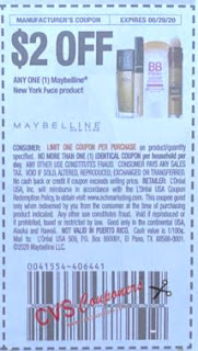 "$2.00/1-Maybelline New York Face Product Coupon from ""RetailMeNot"" insert week of 8/2/20."