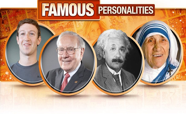 Famous Types of Personality #infographic
