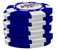 blue poker chip stack