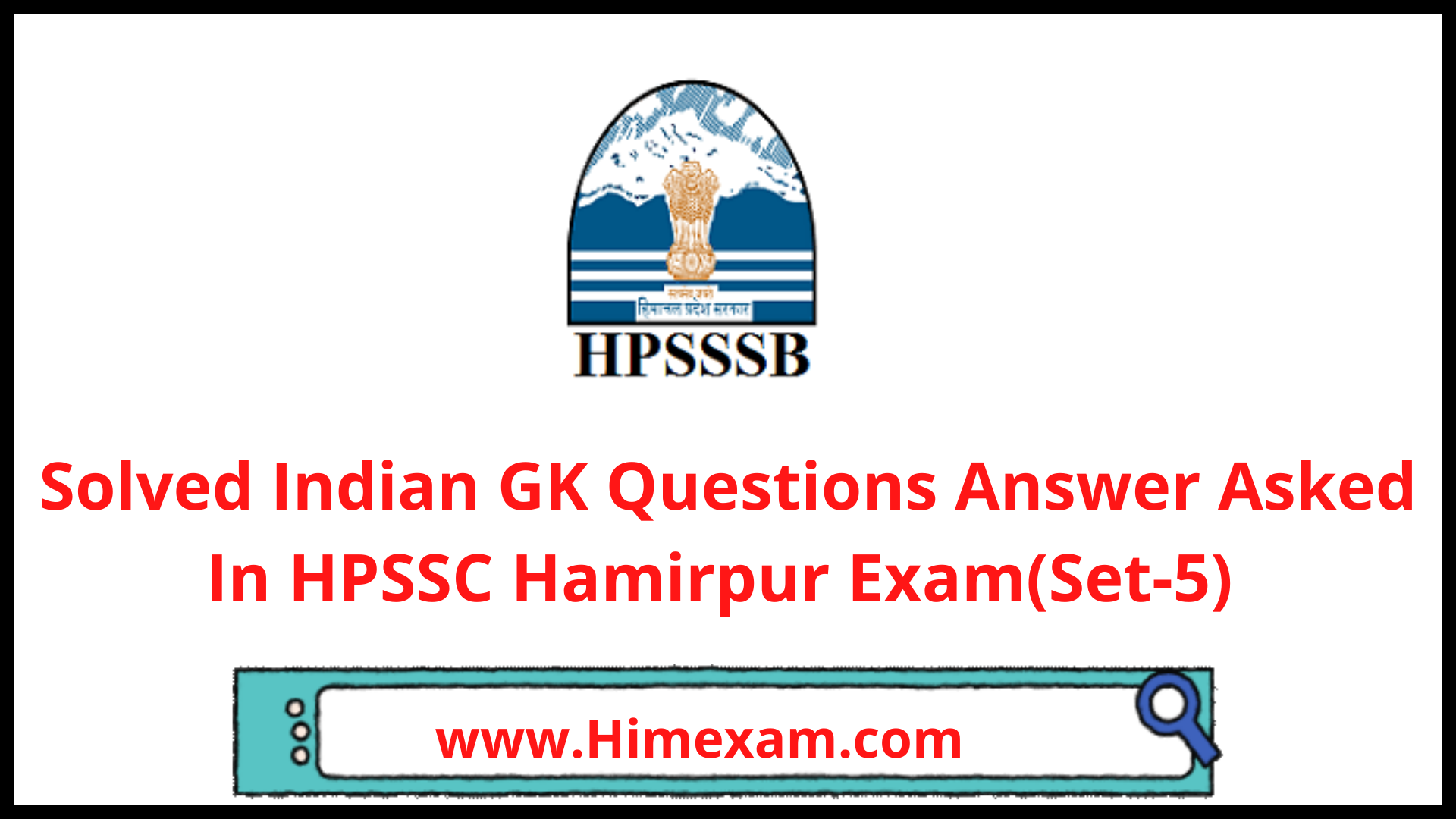 Solved Indian GK Questions Answer Asked In HPSSC Hamirpur Exam(Set-5)