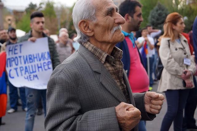 В Ереване состоялась очередная антироссийская акция
