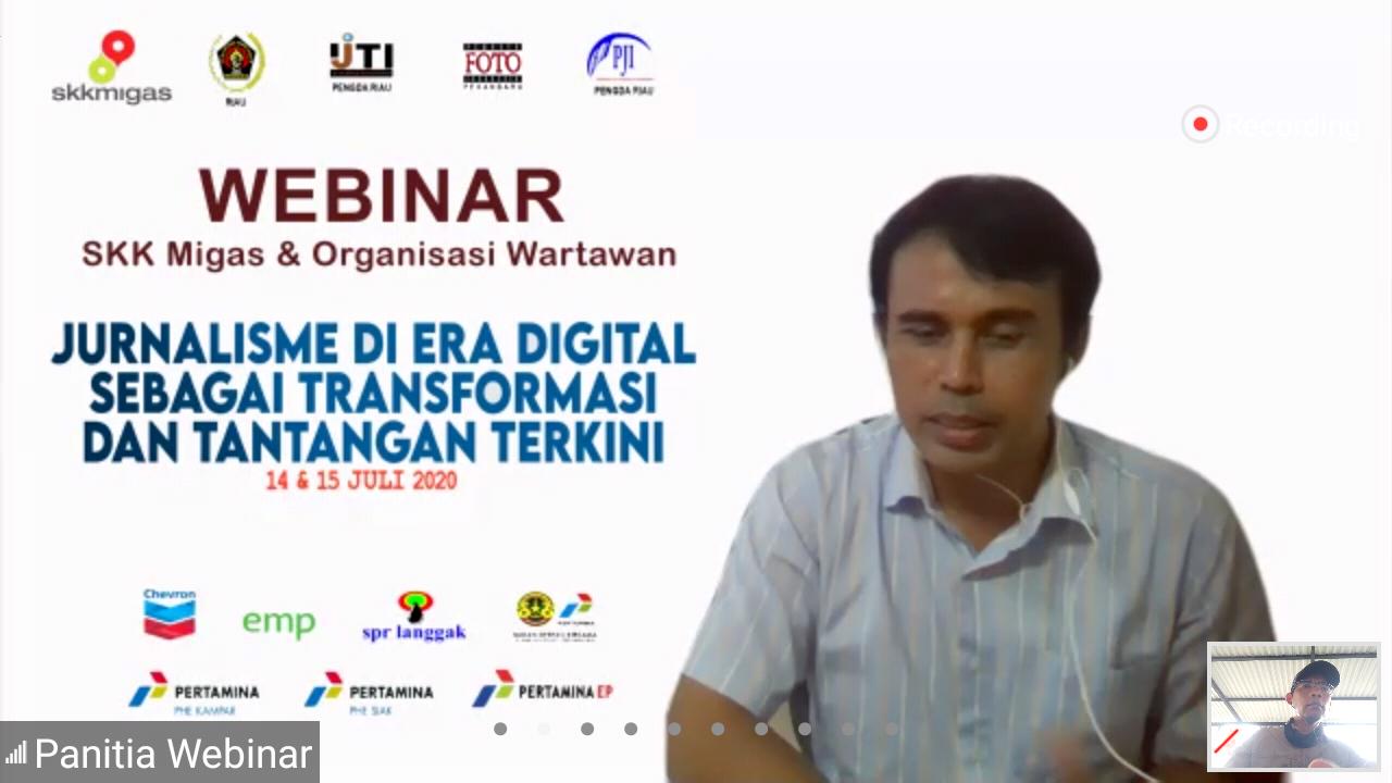 SKK Migas Sumbagut - KKKS Wilayah Riau dan 5 Organisasi Wartawan Gelar Webinar Jurnalistik