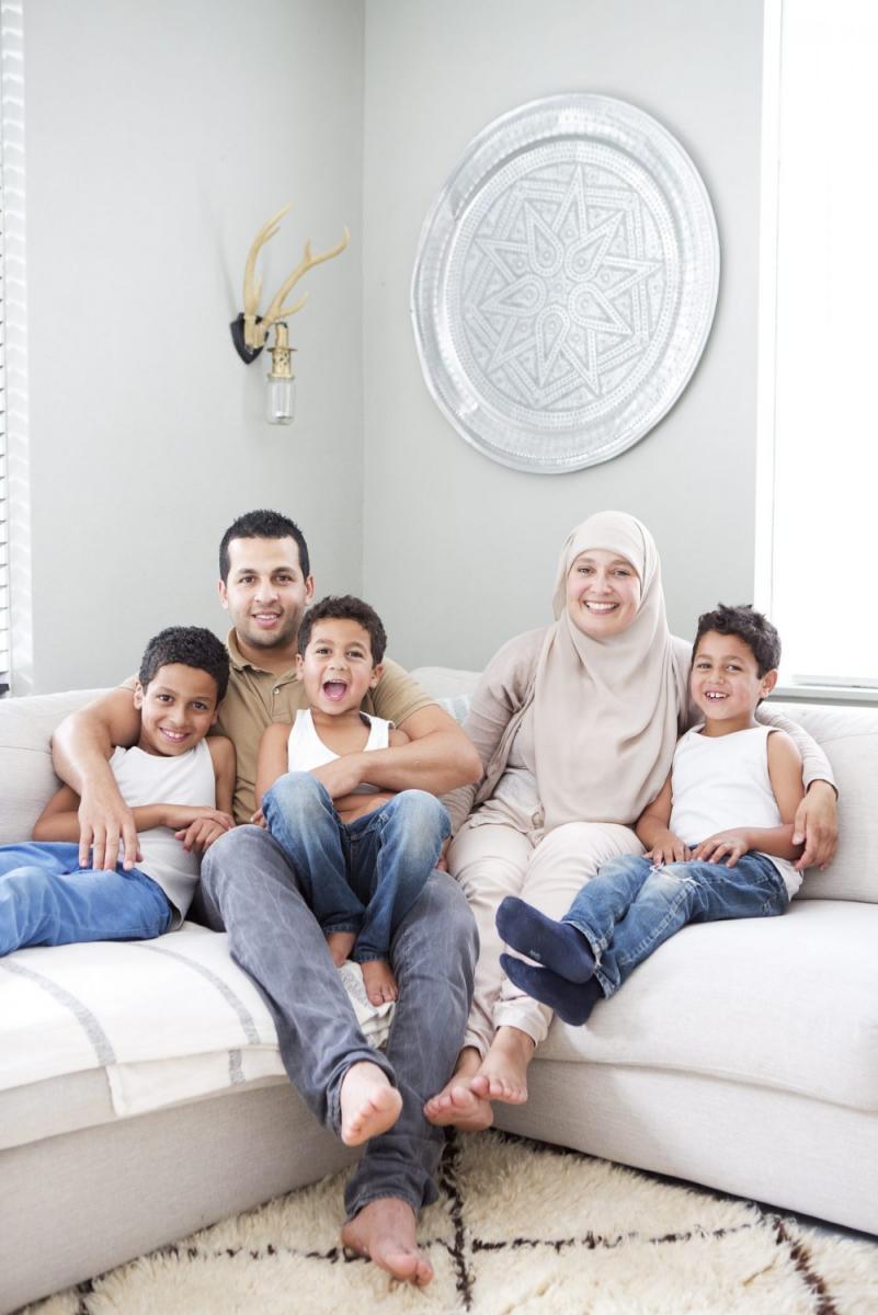 maison et jolie famille en Hollande