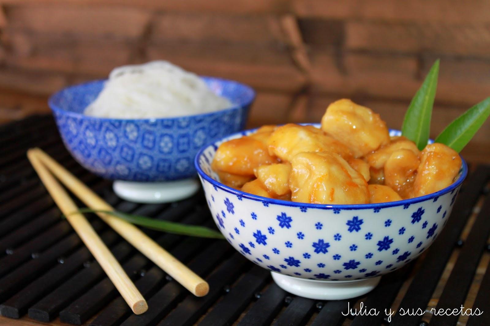 Pollo a la naranja chino. Julia y sus recetas